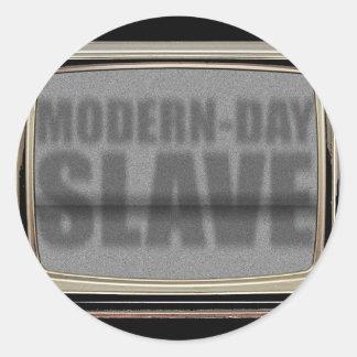 modern-day-slave round sticker
