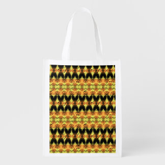 Modern decorative abstract art reusable grocery bag