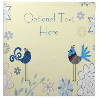 Modern Decorative Blue Birds Printed Napkins