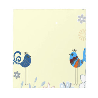 Modern Decorative Blue Birds Notepad