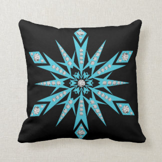 Modern Decorative Crystal Snowflake Cushion