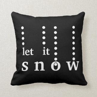 Modern Decorative Let it Snow Typography Cushion