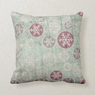 Modern Decorative Vintage Retro Crystal Snowflake Cushion