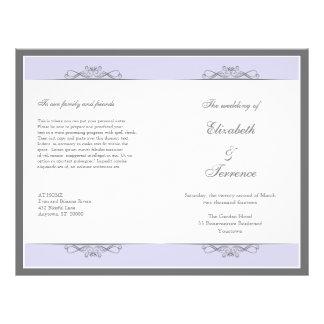 Modern Decorative Wedding Program Flyer
