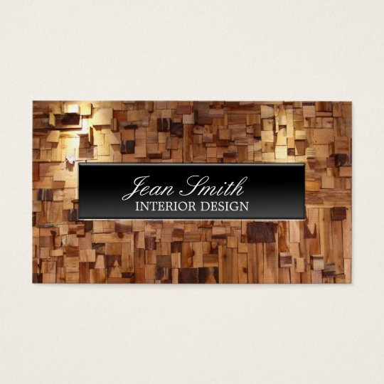 Modern Decorative Wood Interior Design Business Card