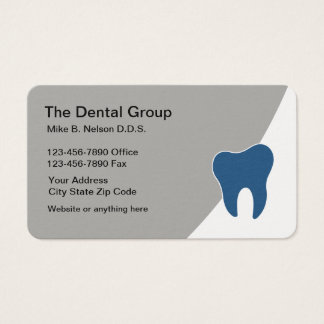 Modern Dental Office Appointment Business Card