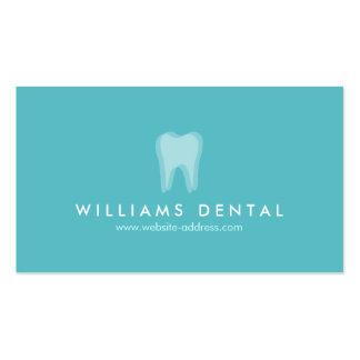 Modern Dentist Aqua Tooth Logo, Dental Office Pack Of Standard Business Cards