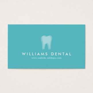 Modern Dentist Aqua Tooth Logo, Dental Office Business Card