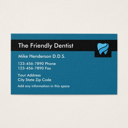 Modern Dentistry Appointment Businesscard Business Card