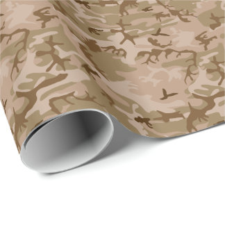 Modern Desert Military Camo Camouflage Wrapping Paper