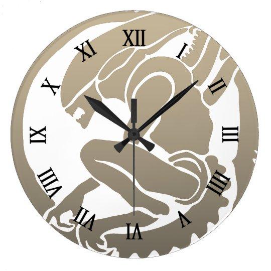 Modern design Alien wall clock