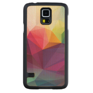 Modern Design Carved Maple Galaxy S5 Case