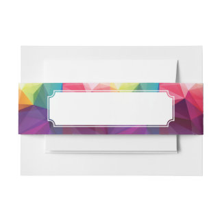 Modern Design Invitation Belly Band