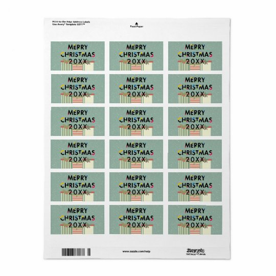 Modern Design Merry Christmas Gift Boxes Labels