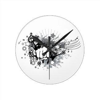 Modern design on  round clock
