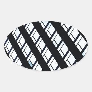 Modern design oval sticker