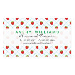 Modern Design, Strawberries, Strawberry Pack Of Standard Business Cards