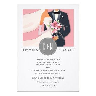 Modern Design Wedding Thank You Custom Flat Cards 13 Cm X 18 Cm Invitation Card