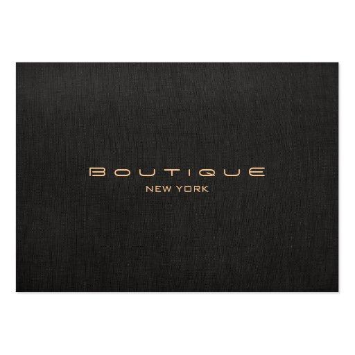 Modern Designer Faux Black Linen Professional Business Card Templates