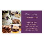 Modern dessert bread cafe bakery pack of standard business cards
