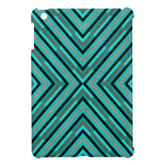Modern Diagonal Checkered Shades of Green Pattern Case For The iPad Mini