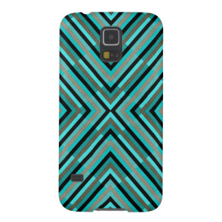 Modern Diagonal Checkered Shades of Green Pattern Galaxy S5 Case