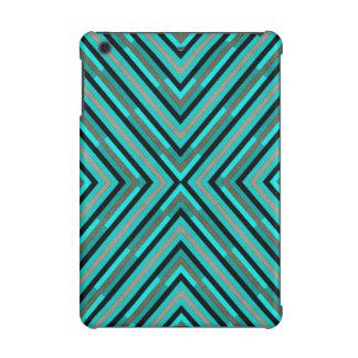 Modern Diagonal Checkered Shades of Green Pattern iPad Mini Retina Cover