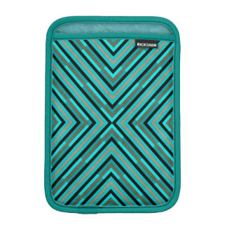 Modern Diagonal Checkered Shades of Green Pattern iPad Mini Sleeve