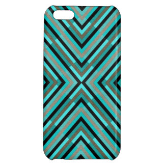 Modern Diagonal Checkered Shades of Green Pattern iPhone 5C Cover