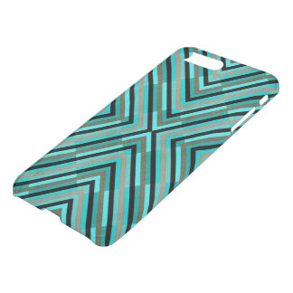 Modern Diagonal Checkered Shades of Green Pattern iPhone 7 Plus Case