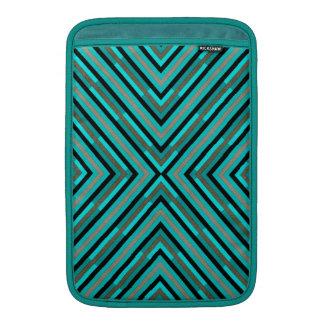 Modern Diagonal Checkered Shades of Green Pattern MacBook Air Sleeves