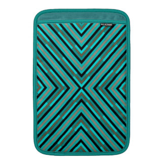 Modern Diagonal Checkered Shades of Green Pattern Sleeve For MacBook Air