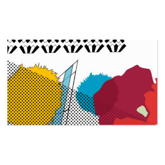 Modern digital art collage pack of standard business cards