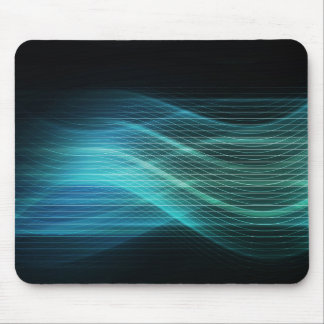 Modern Digital Soundwave Futuristic Abstract Mouse Pad