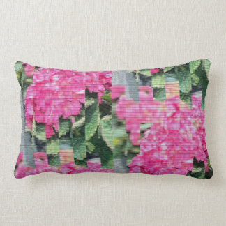Modern Digitized Floral Lumbar Cushion