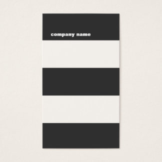 Modern DJ Hip Bold Striped Professional Business Card