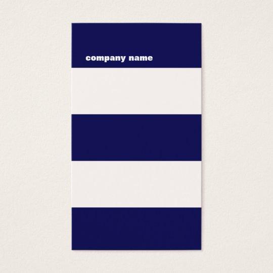 Modern DJ Hip Navy Blue and White Stripes