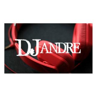 Modern DJ Music Entertainment Business Card