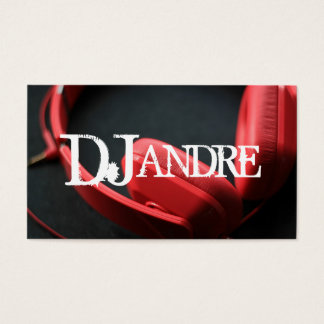 Modern DJ Music Entertainment Business Card
