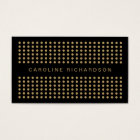 MODERN DOT DESIGN in BLACK/GOLD Business Card
