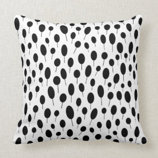 Modern Dotalism Throw Pillow