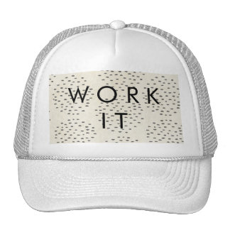 Modern Dots Ivory & Black Tiny Dot Print Cap