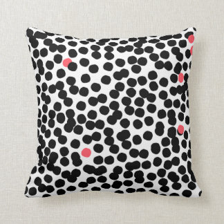 Modern dotted cushion pink&black