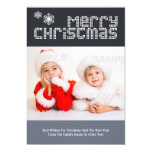 Modern Dotted Text Christmas Photo Template 13 Cm X 18 Cm Invitation Card