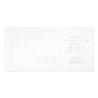 Modern Dove Baby Custom Sympathy Thank You - Photo Card Template