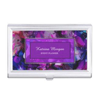 Modern Dramatic Inks Purple Card Holder