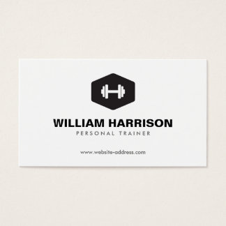 MODERN DUMBBELL LOGO FOR PERSONAL TRAINER, FITNESS