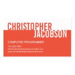 Modern Duotone Business Card - Orange