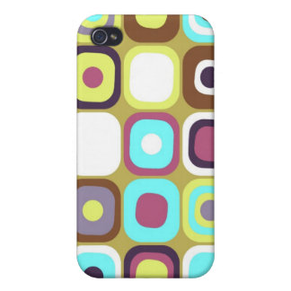Modern Eames Rectangles 35 iPhone 4 Cases