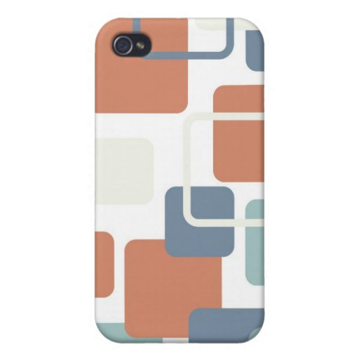 Modern Eames Rectangles 3 iPhone 4 Cases